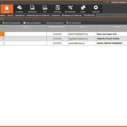 InnovaCommerce ERP - Sección de ventas - presupuestos