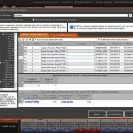 InnovaCommerce TPV - pantalla búsqueda de productos
